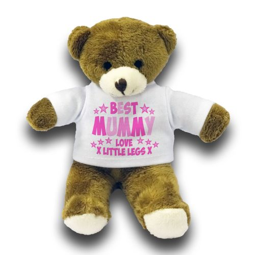 "Personalised Best Mummy Gift 7"" Teddy Bear - Pink"